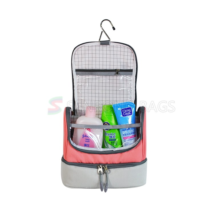 9456665272 Durable Ladies Toiletry Bag ST17M-103R. Model  ST17M-103R Material   Polyester Color  pink. Size  As shown on picture. Logo  imprint your logo