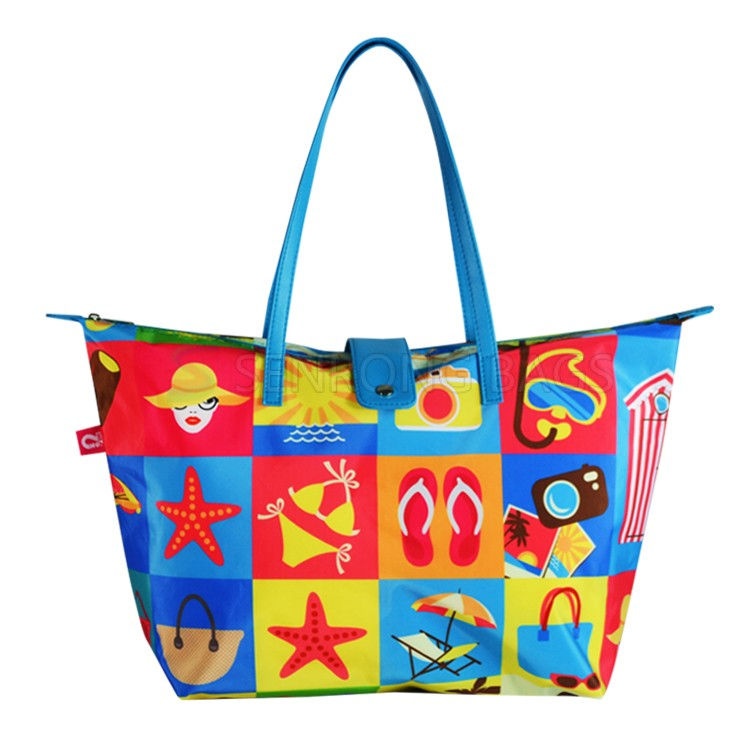 Custom Imprint Shopping Tote Bag SRSH0745