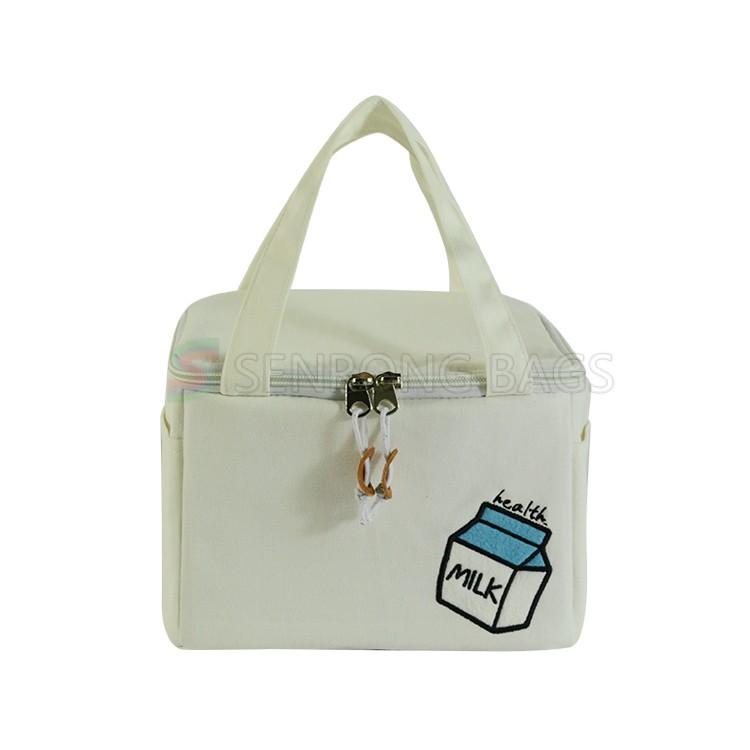 White Cotton Insulated Bag 17SC028W