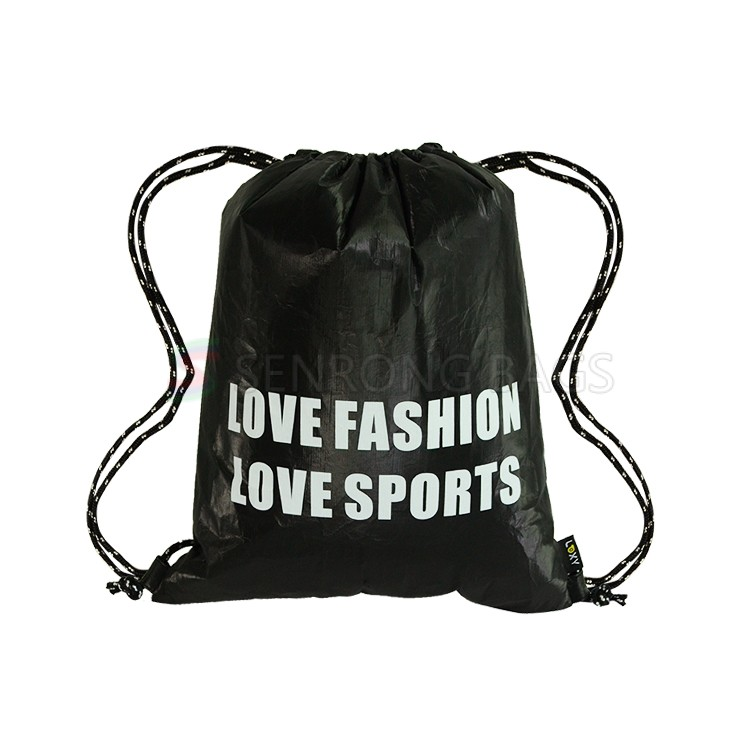 Tyvek Black Gym Bag LX17-004B