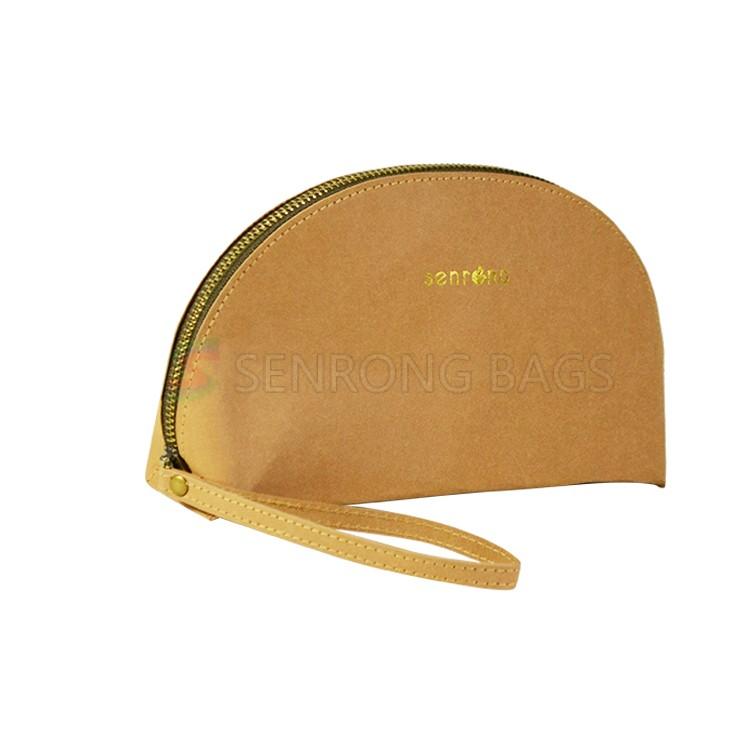 Yellow Kraft Paper Cosmetic Bag SRC17-040Y
