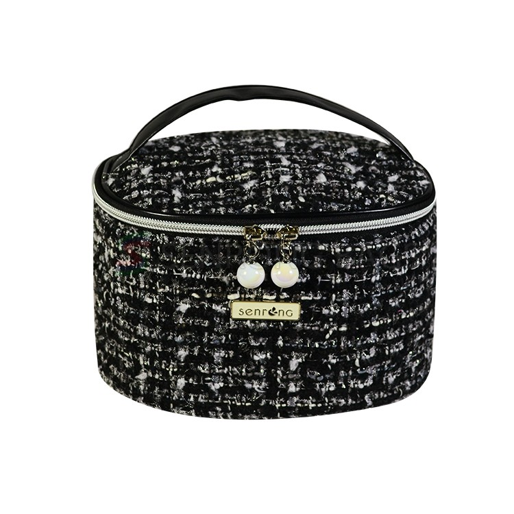 Black Cosmetic Bag For Women SRC17-063B