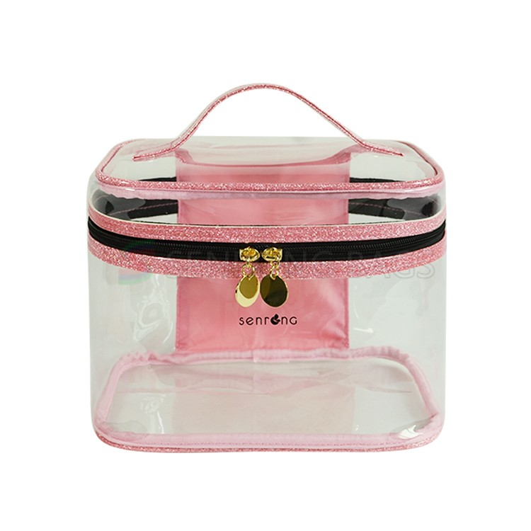 Pink Clear Makeup Bag SRC17-126P