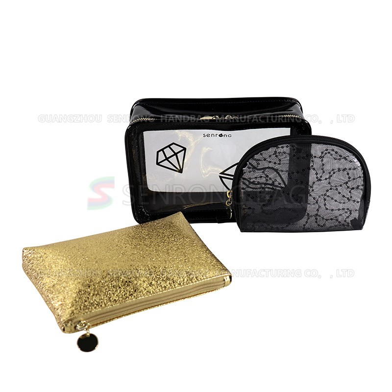 SRC19-003B  Local beauty gold cosmetic bag