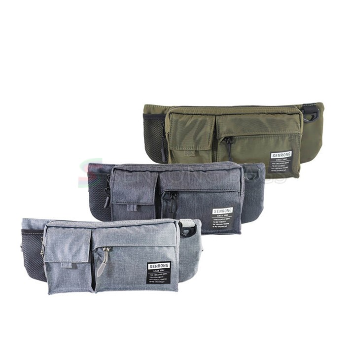 China Supplier Fashion Custom Logo Waist Bag Fanny Pack with Separate Pockets