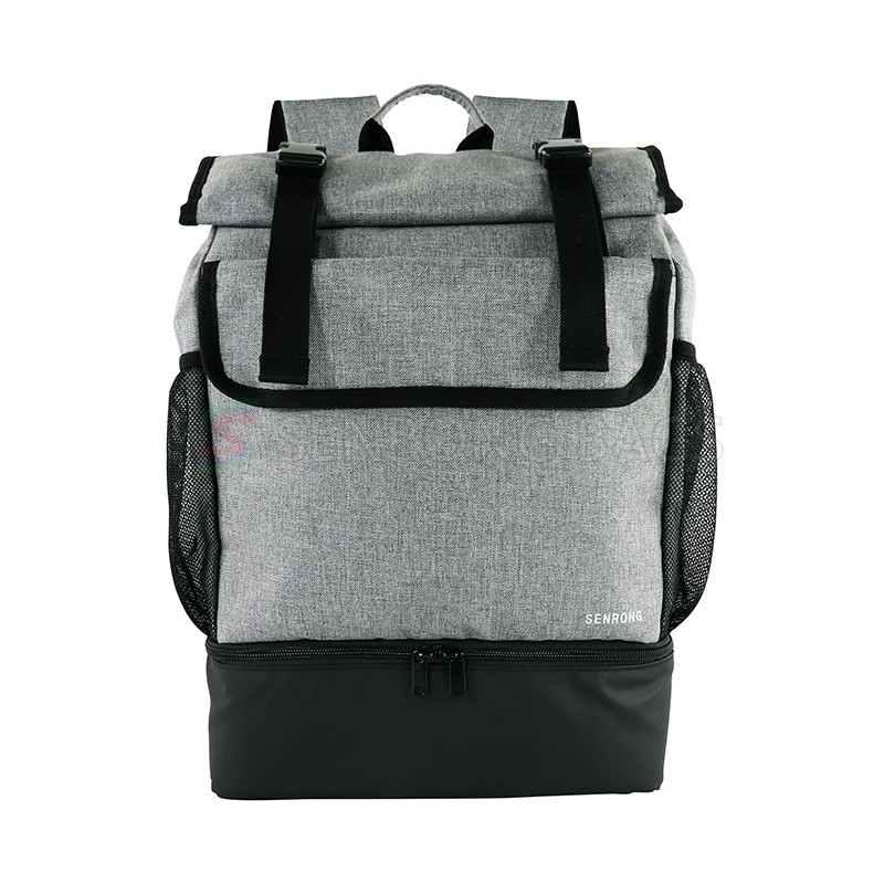 Custom high quality wholesale price soccer sport backpack, gym duffel dry and wet separation backpack