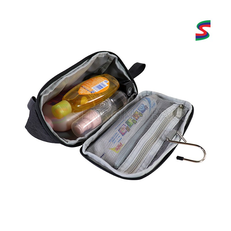 Manufacturer owner patent men and women travel toilet wash bag waterproof hanging cosmetic bag