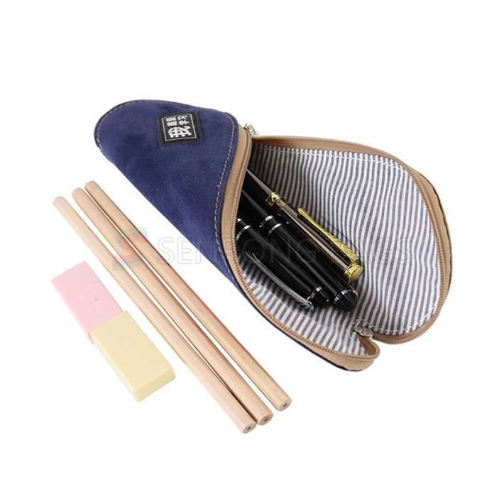 Custom eco-friendly cork patchwork cotton canvas zipper closure pencil bags tyvek pencil pouch purses handbags for toiletry bags