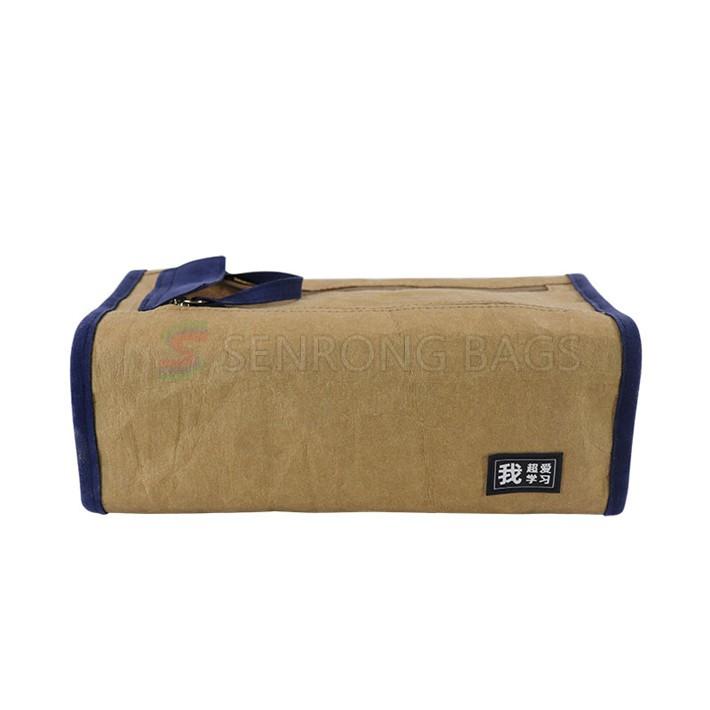 OEM New design natural cotton canvas stitching cork pencil case,zipper pencil pouch for school bags