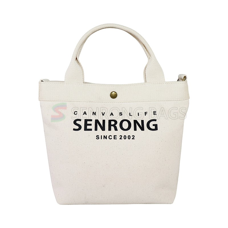 OEM foldable large canvas shopping bag with pocket