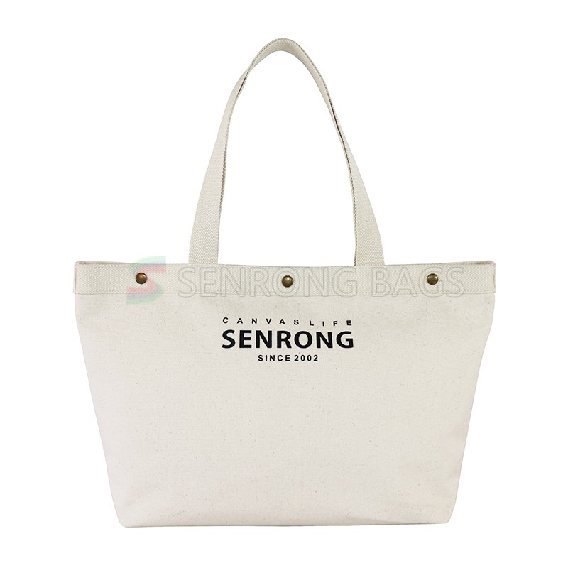Ginzeal OEM Cotton Shopping Bag Canvas Tote Bag Custom Blank Canvas Bag