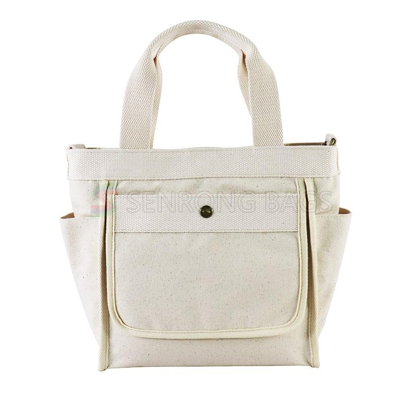 Wholesale Custom Cotton Canvas Tote Shipping Bag Cross Body Bag