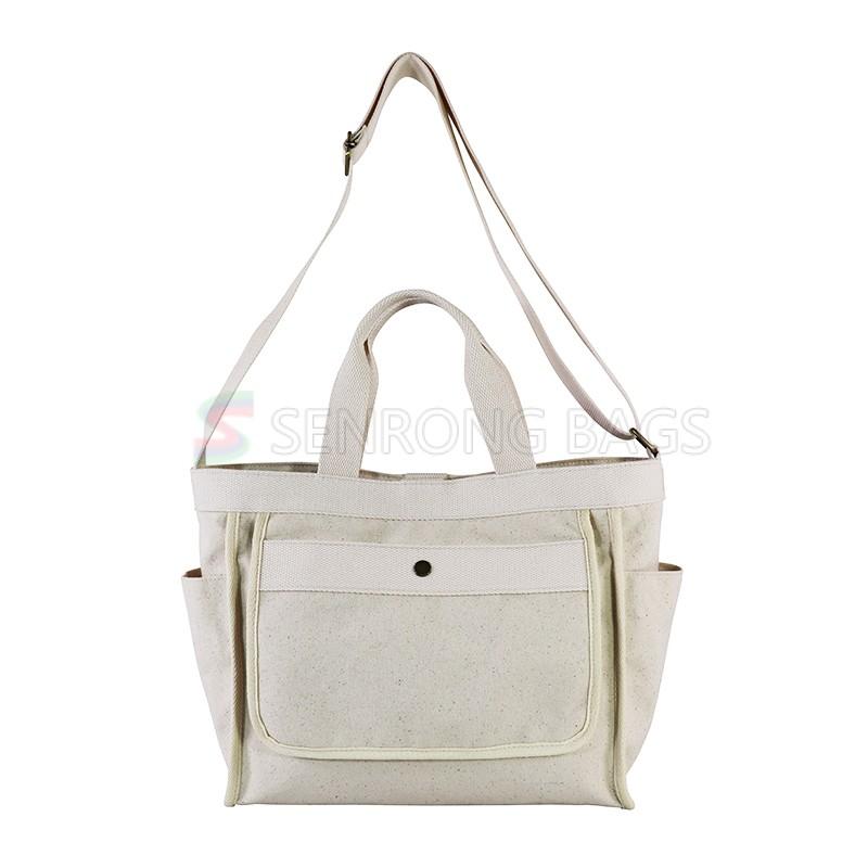 Padded adjustable shoulder strap key hook breathable polyester post satchel for work