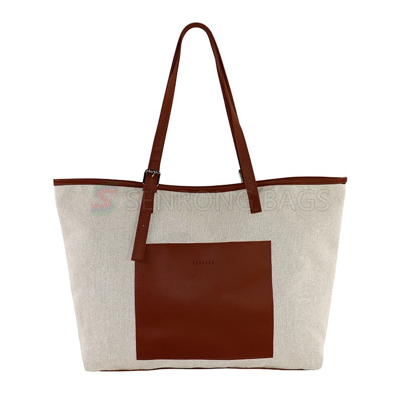 Canvas Custom Durable Reused Shopping Bag Logo Recycle Tote Shopping Bag for Women