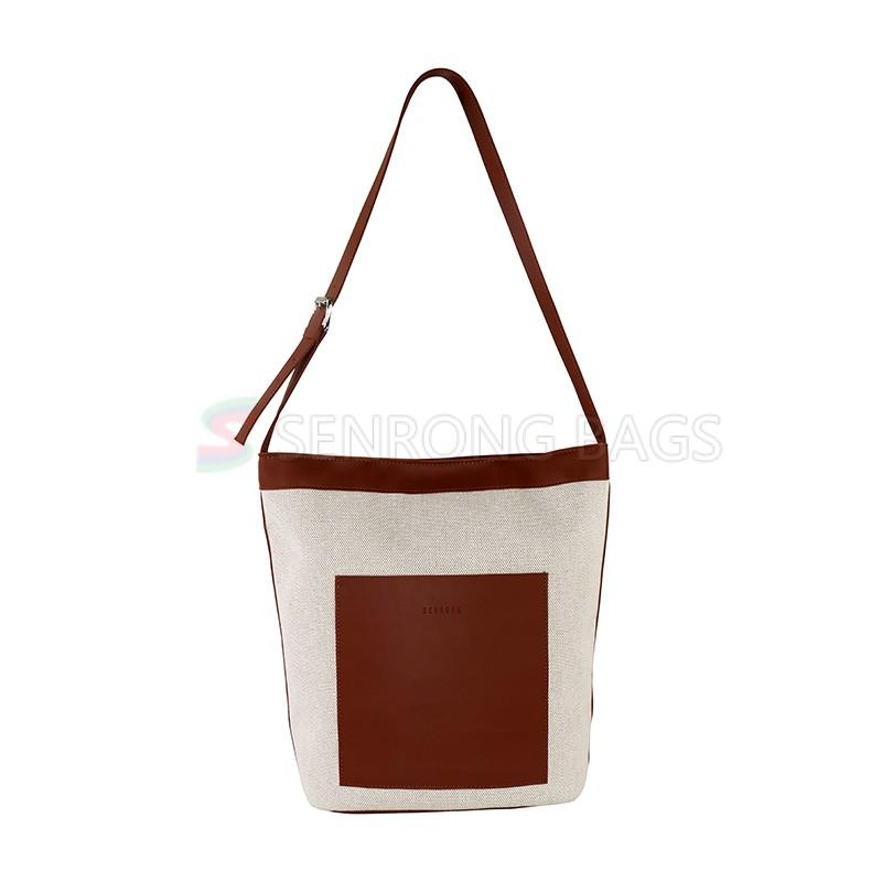 New Style Canvas bag Eco-friendly Shopping Bag Custom Logo Handbag for Ladies