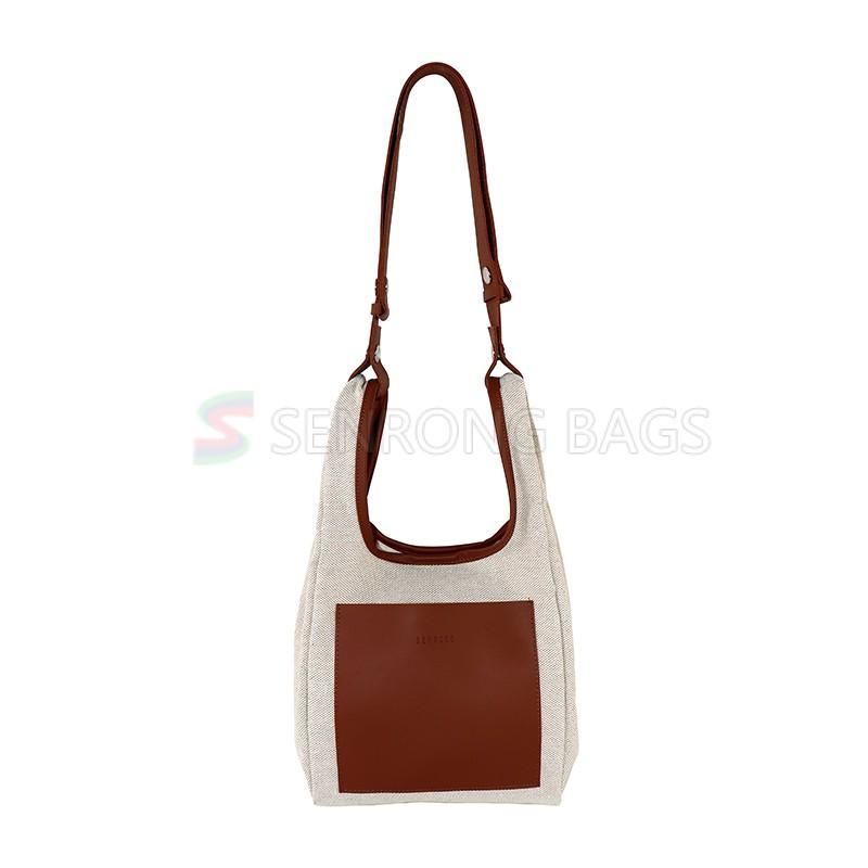 Canvas Womens Bucket Bag Shoulder Handbags Hobo Ladies Purses Fashion Tote Purse