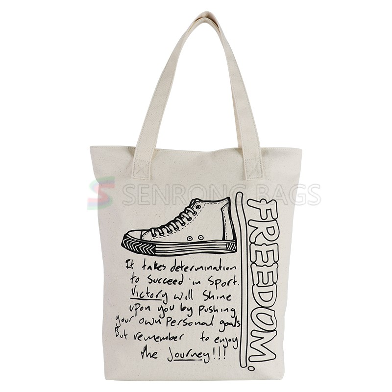 Blank heavy duty cotton canvas wholesale shopping tote bags with logo printing Promotional shopping bag