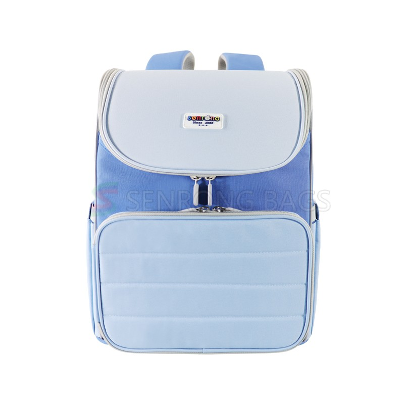 Latest Teenagers breathable back pack system Blue bookbags Children school bags for boys